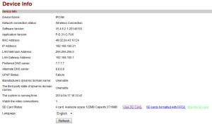 Status SD Card1